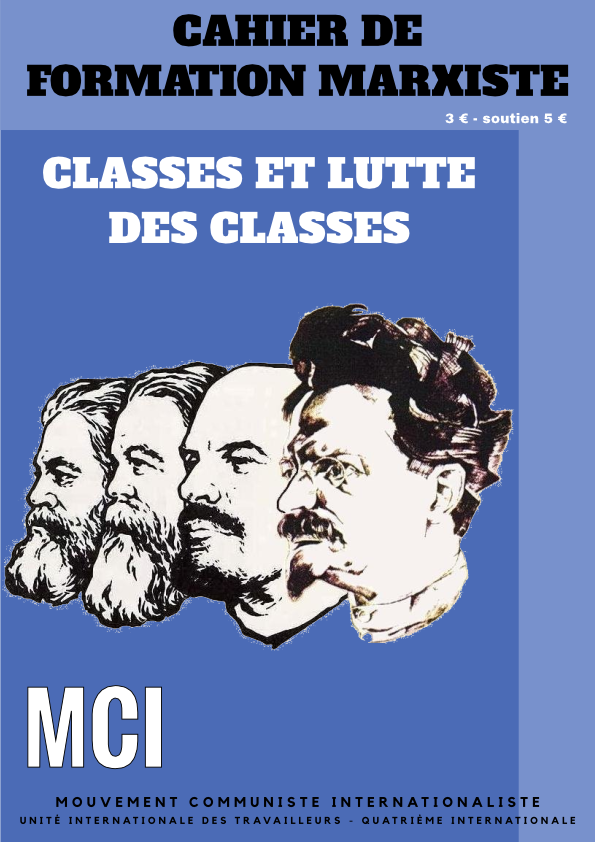 Une du cahier de formation Classes et lutte des classes
