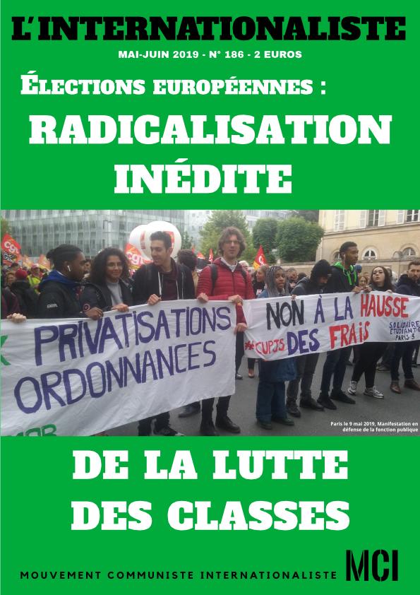 Une de l'Internationaliste 186
